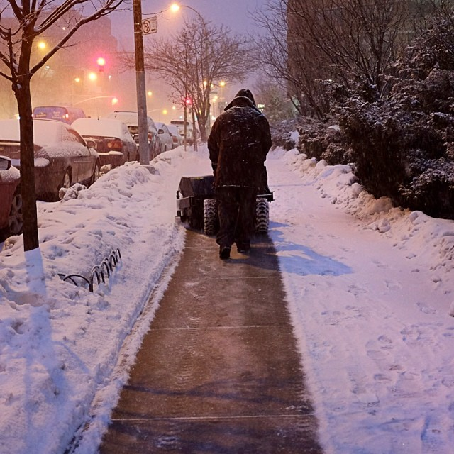 Morning commute. Follow the plow.#plow #snow #morningcommute #nyc #weather #joefornabaio #joefornabaiotookthispicture