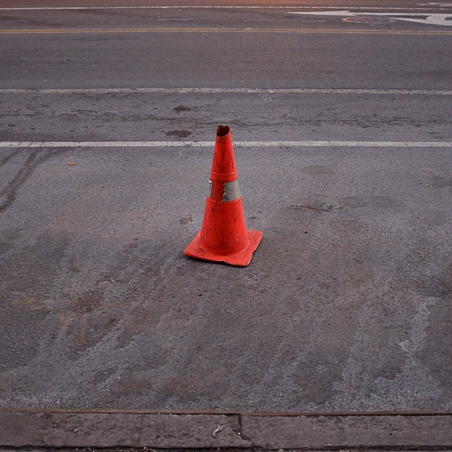This looks like a good spot to put the grip truck.#parkingcone #parkingspot #productioncone #madeinny #griptruck #nyc #les #joefornabaio #joefornabaiotookthispicture
