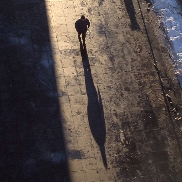 It's national Bring Your Shadow to Work Day.#shadow #walk #nyc #joefornabaio #joefornabaiotookthispicture