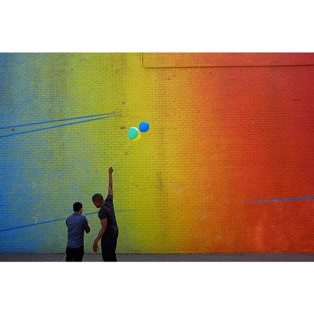 "As the kids say, ""all day every day"".#alldayeveryday #nyc #brooklyn #dumbo #balloons #color #joefornabaio"