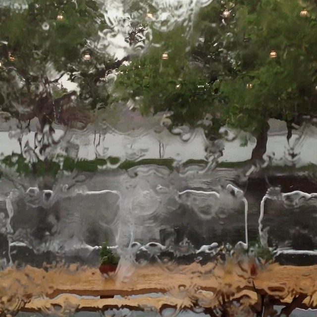 Different year, same Frieze-ing rain.#frieze #nyc #rain #joefornabaio