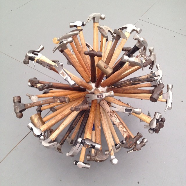 Hammering away at Frieze.'Hammersphere' by Vahar Avsar#frieze #hammer #nyc #joefornabaio