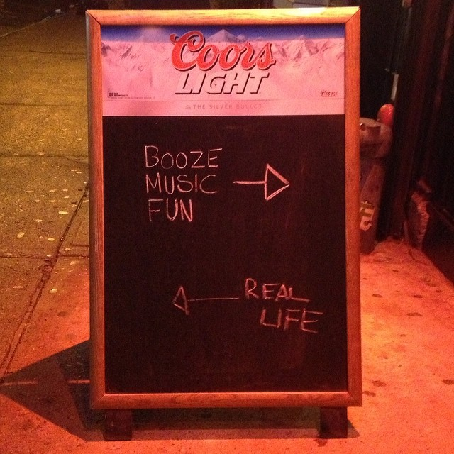 It's Friday night, choose wisely my friends.#fridaynight #choosewisely #les #nyc #joefornabaio