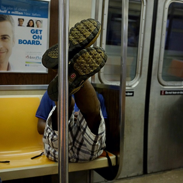 Morning commute.#morningcommute #sneakers #subway #nyc #joefornabaio #reportage #photography #nycsubway