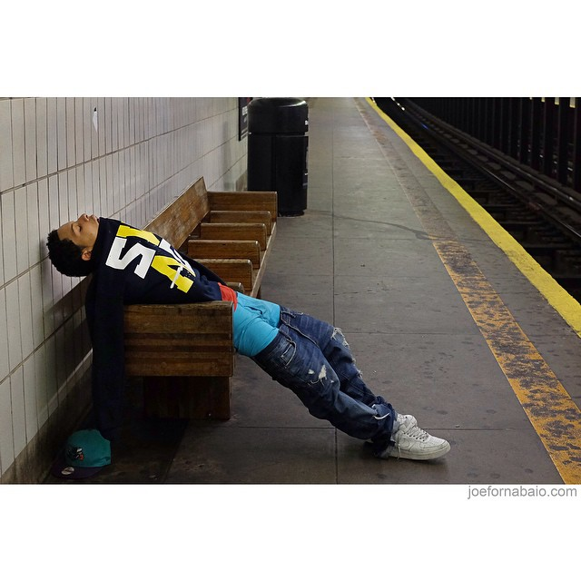 Morning commute.#morningcommute #sleep #joefornabaio #subway #nyc #les #lesnyc