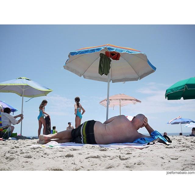 Daydreaming about summer.#daydreaming #summer #beach #bald #umbrella #joefornabaio