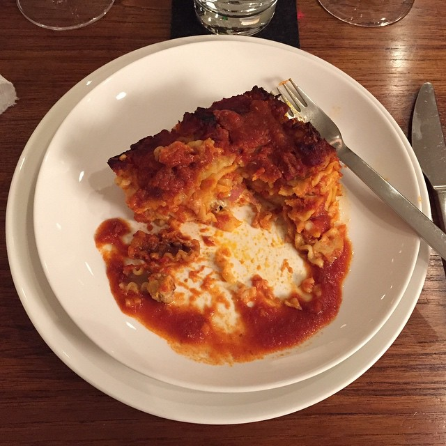 Happy Thanksgiving! We do it Italian-American style...first lasagna!#lasagna #italian-american #nyc #lowereastside #nycles #joefornabaio