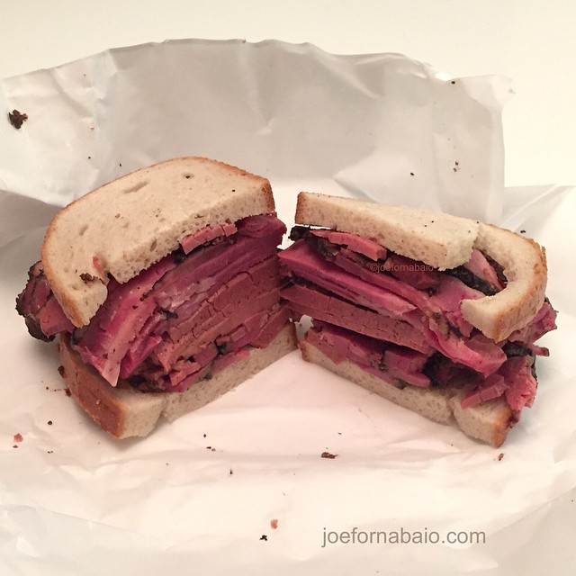 Home alone.#pastrami #rye #joefornabaio #lowereastside #nyc #katzs