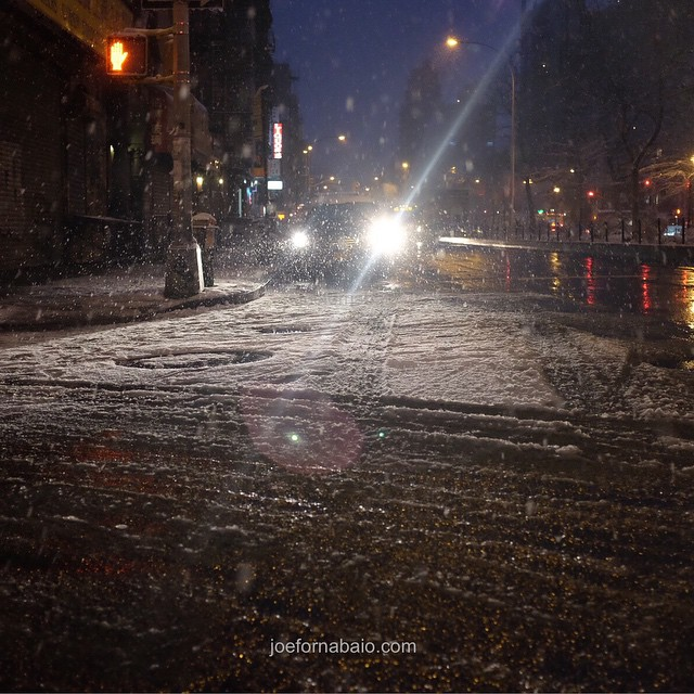 I will not post a snow pic. I will not post a snow pic. #nyc #snow #joefornabaio #lowereastside #eveningcommute I will not post a snow pic. I will not post a snow pic. Evening commute. I will not post a snow pic.I tried.