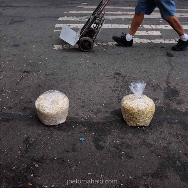 Chinatown traffic cones. Evening commute.#chinatown #joefornabaio #nyc #eveningcommute. #trafficcones #lowereastside