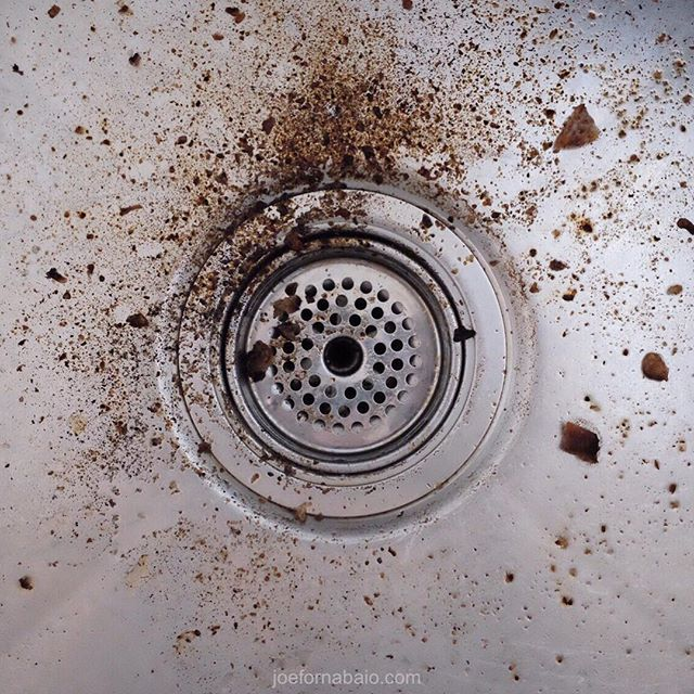 The scene of the crime.#crumbs #sink #joefornabaio #nyc #drain #lowereastside #les