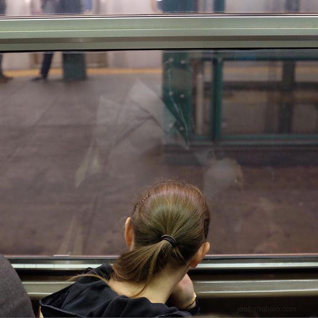 Morning commute.#subway #joefornabaio #nyc #window #underground #morningcommute