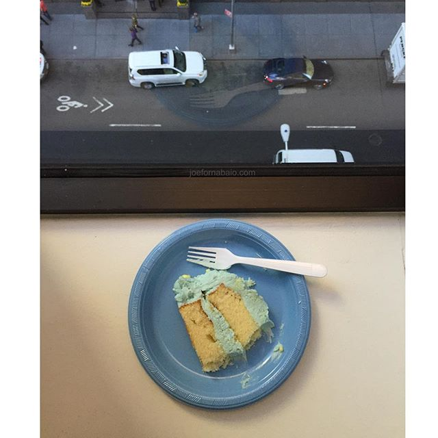 Work. Sometimes ain't so bad.#office #joefornabaio #midtown #cake #nyc #work