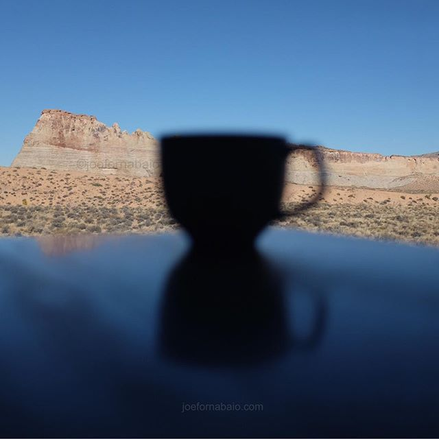 Just getting started.#coffee #morning #joefornabaio #vacation #amangiri #utah