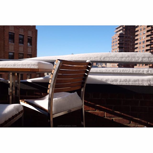 The day after morning coffee view.#snow #nyc #joefornabaio #balconylife #lowereastside #lesnyc