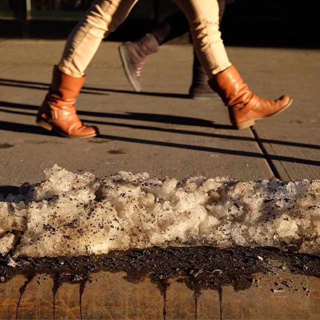 Still.Melt.ing.#snow #melt #nyc #joefornabaio #sidewalk #meatpacking #boots