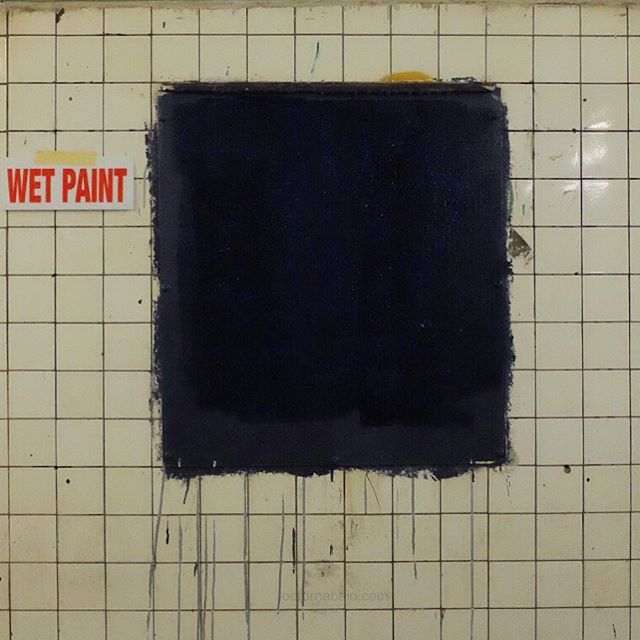 Rothko inspired morning commute.#subway #nyc #wetpaint #joefornabaio #morningcommute #art