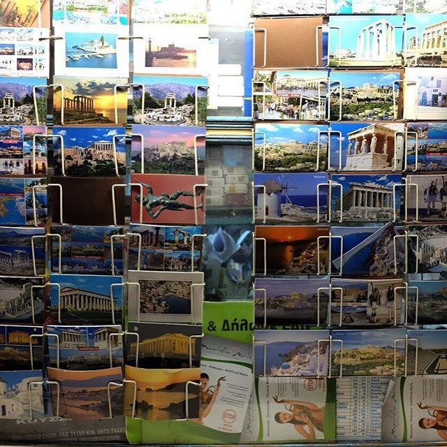 Late night posting postcard memories from Greece.#greece #postcard #joefornabaio #souvenir #vacation