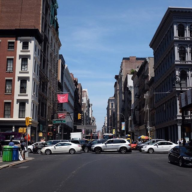 Aaahhhh...summer in the city...and gridlock all the way to Broadway & Broome from the Holland Tunnel.#stophonking #youdontgetthereanyfaster #nyc #summer #joefornabaio #soho #gridlock #hollandtunnel