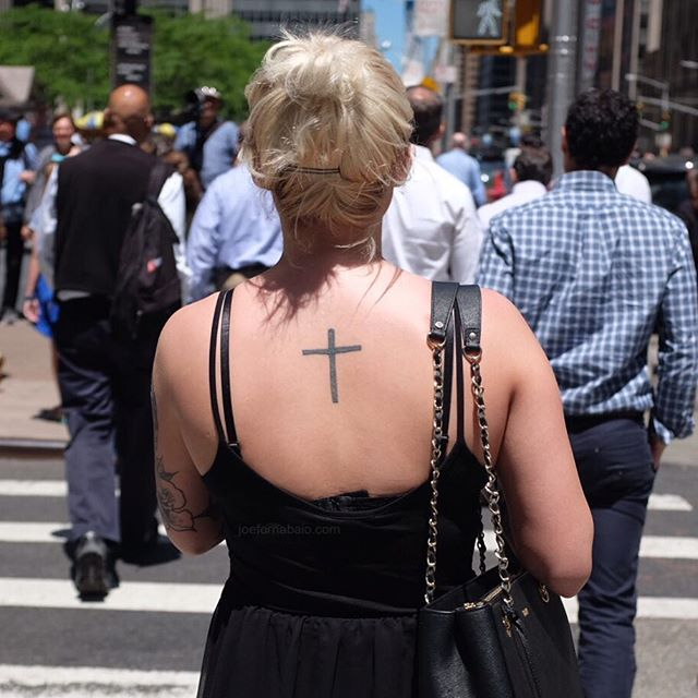 Crosswalk.#midtown #nyc #joefornabaio #crosswalk #cross #tattoo
